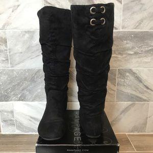 Rampage scrunch boot black 7.5